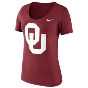 Women's Nike Oklahoma Sooners Logo Scoopneck Tee
