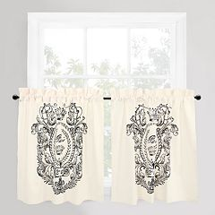 Park B. Smith Paris Postage Tier Curtain Pair