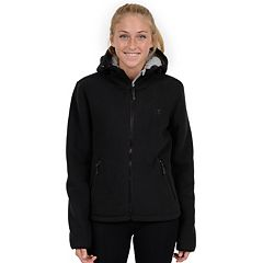 Womens Hooded Fleece Jackets Coats & Jackets - Outerwear, Clothing ...