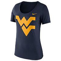 Women's Nike West Virginia Mountaineers Logo Scoopneck Tee