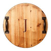 Cathy's Concepts 16-in. Monogram Round Serving Tray