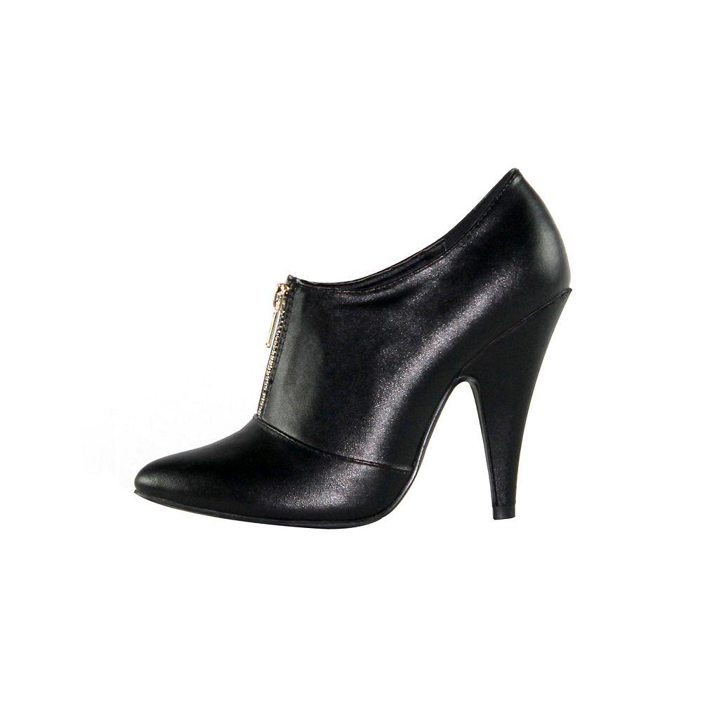 Olivia Miller Vesey Women's Zip-Front High Heels