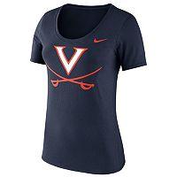 Women's Nike Virginia Cavaliers Logo Scoopneck Tee