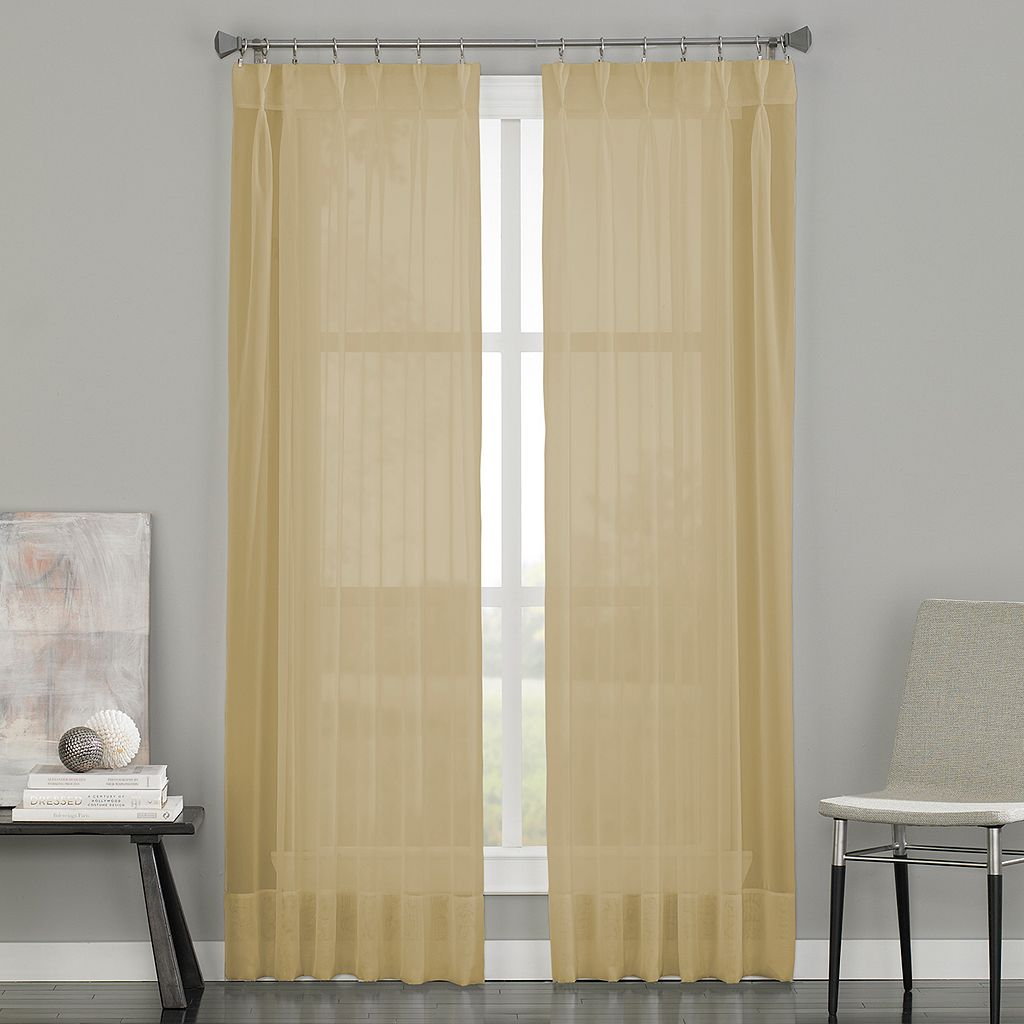 Window Curtainworks Soho Sheer Voile Pinch-Pleat Window Curtain