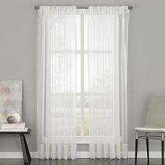 Window Curtainworks 1-Panel Soho Sheer Voile Pinch-Pleat Window Curtain