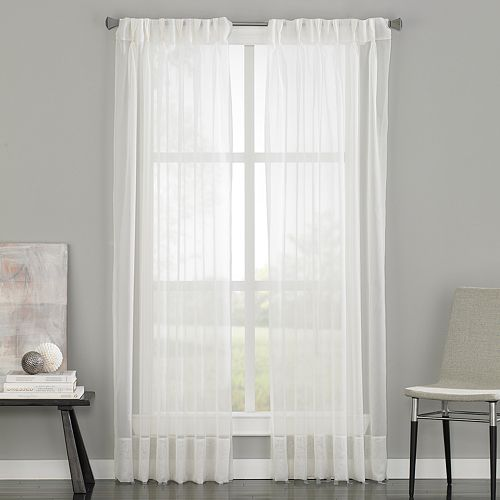 Curtainworks Soho Sheer Voile Pinch-Pleat Curtain