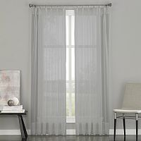 Window Curtainworks Soho Sheer Voile Pinch-Pleat Window Curtain