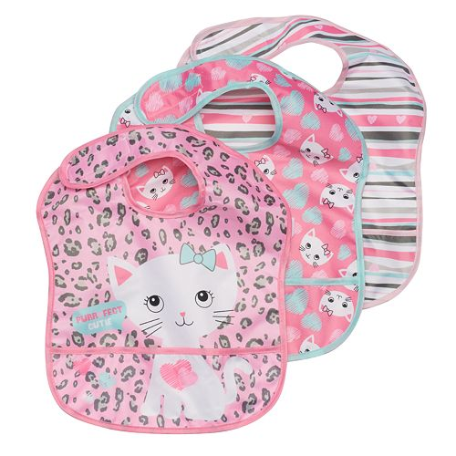 best deals on 4eee3 7cc08 Baby Girl Baby Gear 3-pk. Waterproof Bibs