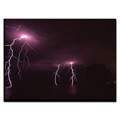''Lake Lightning'' Canvas Wall Art