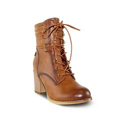 Olivia Miller Bowery Women's Heeled Lace-Up Boots