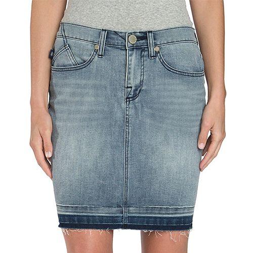 Women's Rock & Republic® Khloe Frayed Jean Skirt