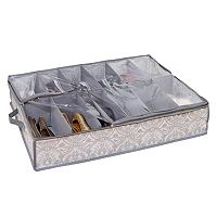Laura Ashley Non-Woven 12 Pair Under the Bed Shoe Box