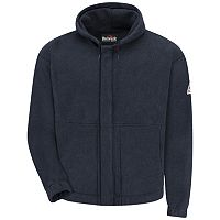Men's Bulwark FR Zip-Front Hooded Fleece Sweatshirt