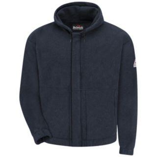 Men's Bulwark FR Zip-Front Hooded Fleece Sweatshirt