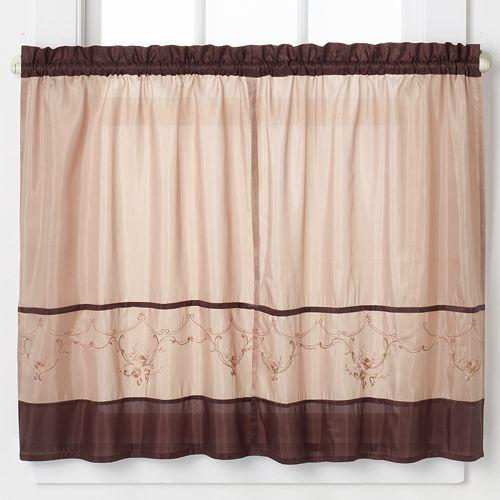 Kohl S Kitchen Curtains: CHF Grace Tailored Tier Kitchen Window Curtain Set