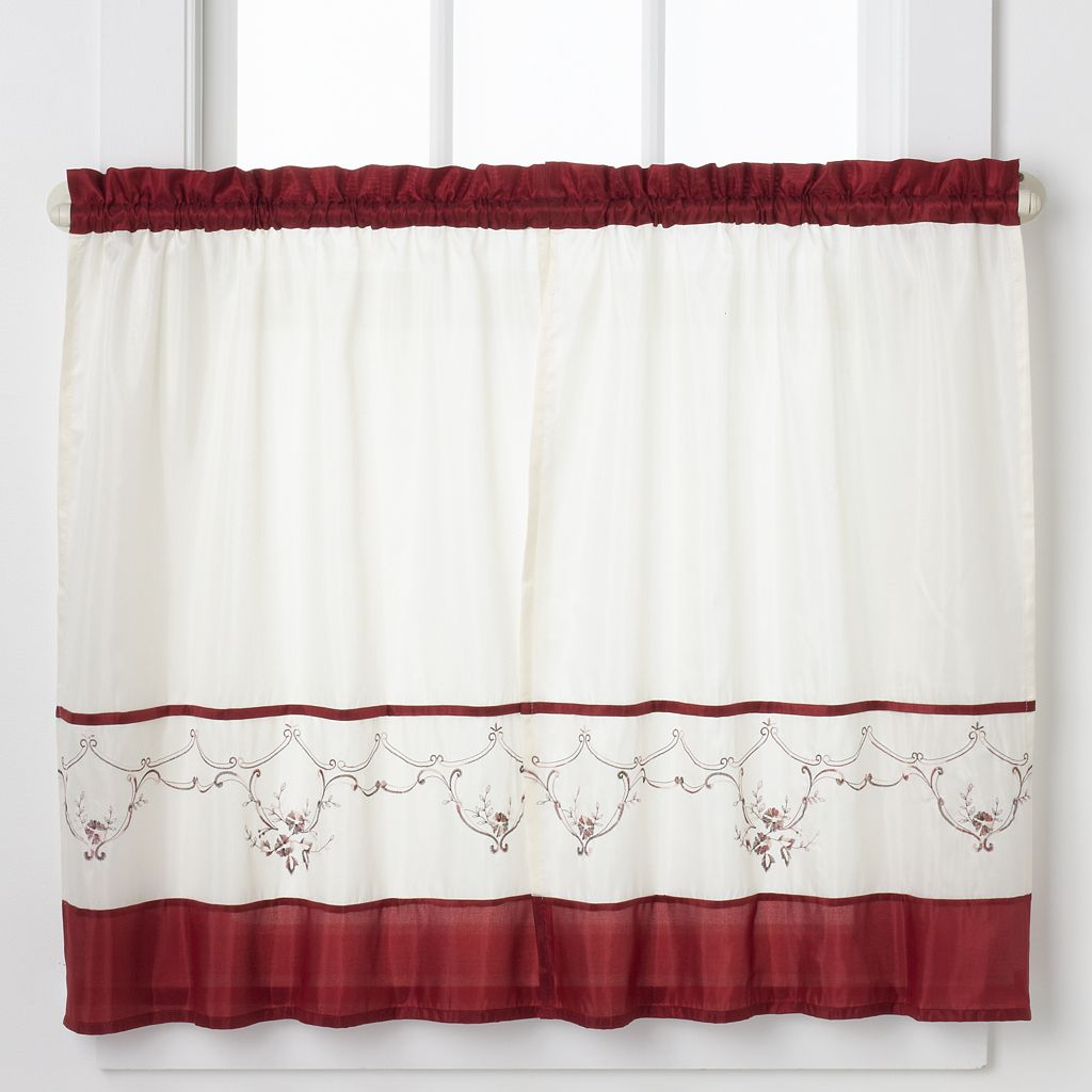 CHF Grace Tailored Tier Kitchen Window Curtain Set
