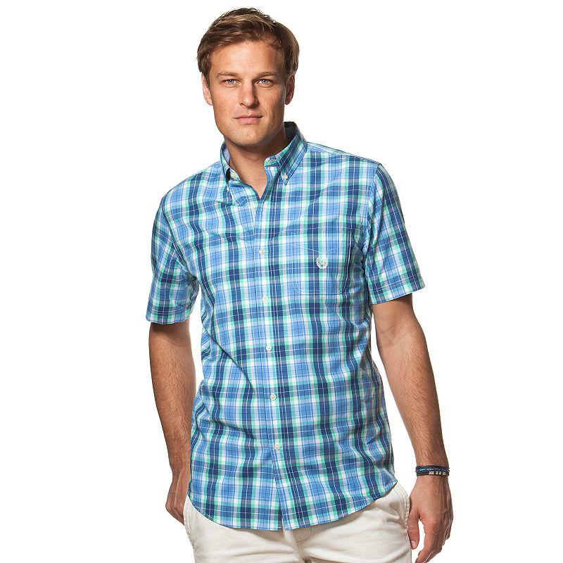 Big & Tall Chaps Chaps Classic-Fit Plaid Button-Down Shirt