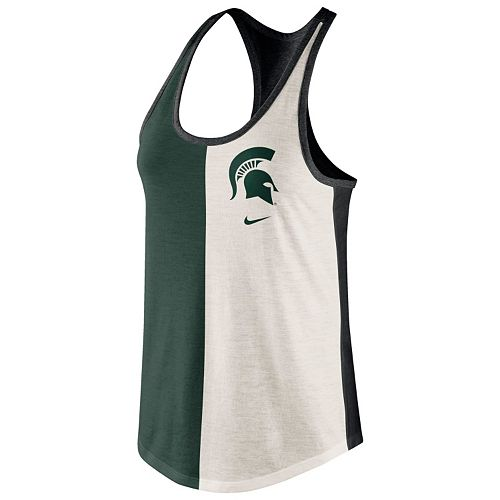 f6d43a41bc97f Women s Nike Michigan State Spartans Divide Racerback Tank Top