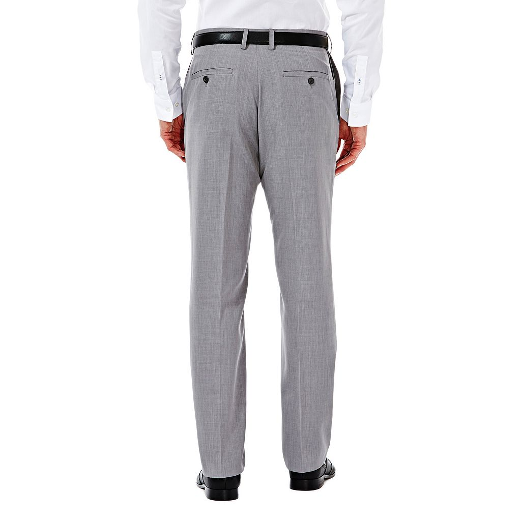 Men's Haggar eCLo Stria Straight-Fit Flat-Front Dress Pants