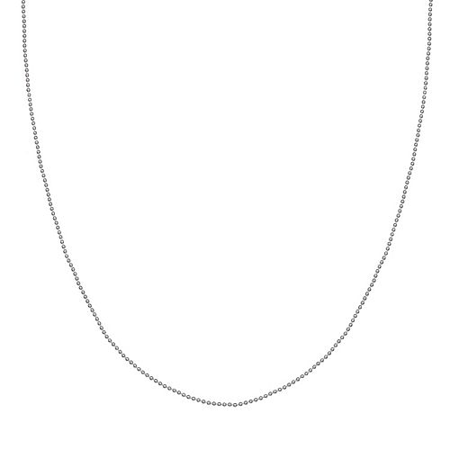 Sterling Silver Ball Chain Necklace - 24 in.