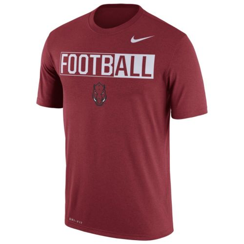 Men's Nike Arkansas Razorbacks Dri-FIT Football Tee