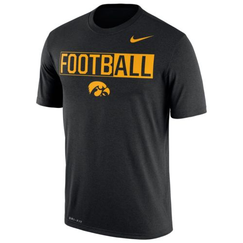 Men's Nike Iowa Hawkeyes Dri-FIT Football Tee