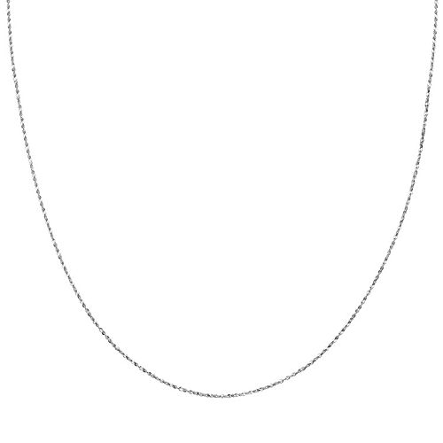 Sterling Silver Serpentine Chain Necklace - 18 in.