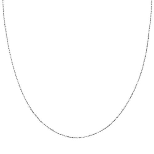 Sterling Silver Serpentine Chain Necklace - 24 in.