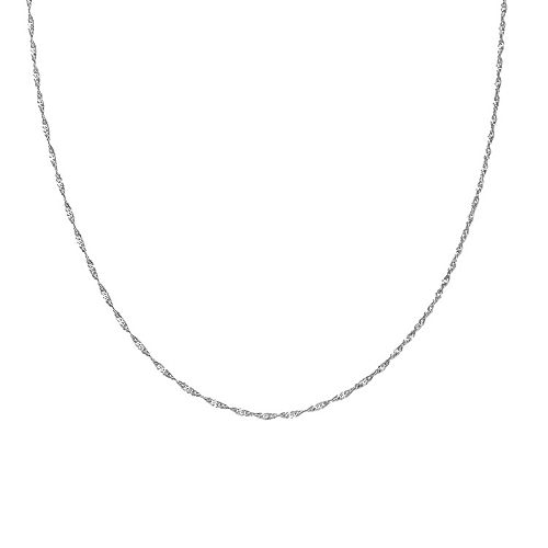 Sterling Silver Singapore Chain Necklace - 18 in.