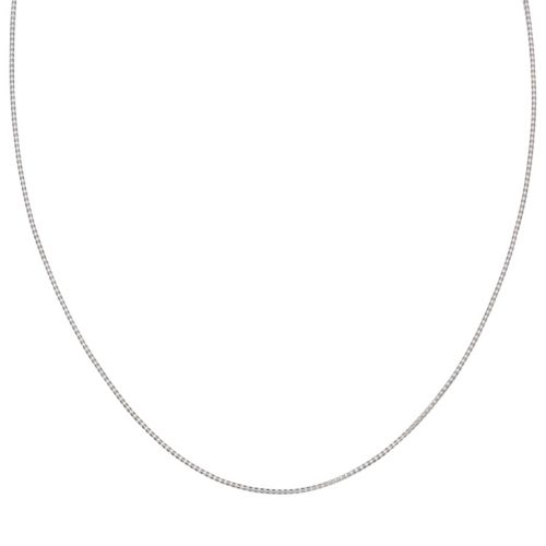 Sterling Silver Popcorn Chain Necklace - 24 in.