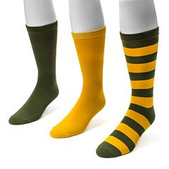 Adult MUK LUKS Game Day 3-pk. Crew Socks