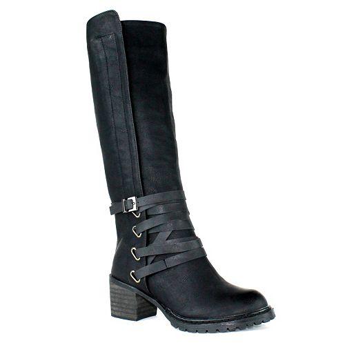 Olivia Miller Calista Women's Chunky Heel Riding Boots