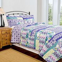 Pegasus Home Fashions Melrose Home ID Collection Contemporary Quilt Set