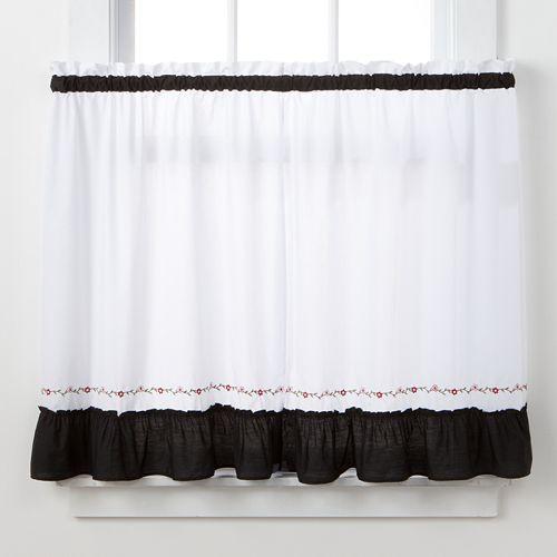 CHF Jayden Tier Kitchen Window Curtain Set
