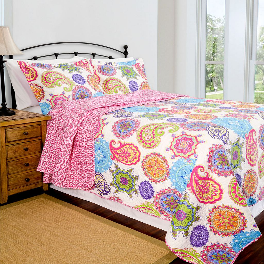 Pegasus Home Fashions Jennifer Home ID Collection Contemporary Quilt Set
