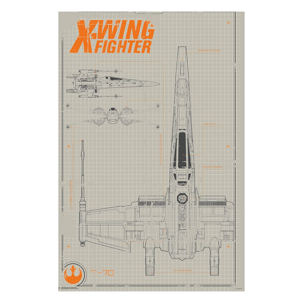 Star Wars: Episode VII The Force Awakens X-Wing Collector Poster by Art.com
