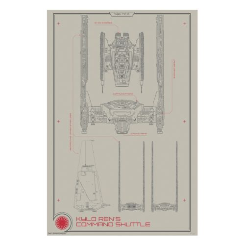 Star Wars: Episode VII The Force Awakens Command Ship Collector Poster by Art.com