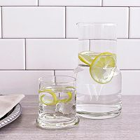 Cathy's Concepts Monogram Bedside Water Carafe Set