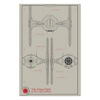 Star Wars: Episode VII The Force Awakens Black Squadron Tie Fighter Collector Poster by Art.com