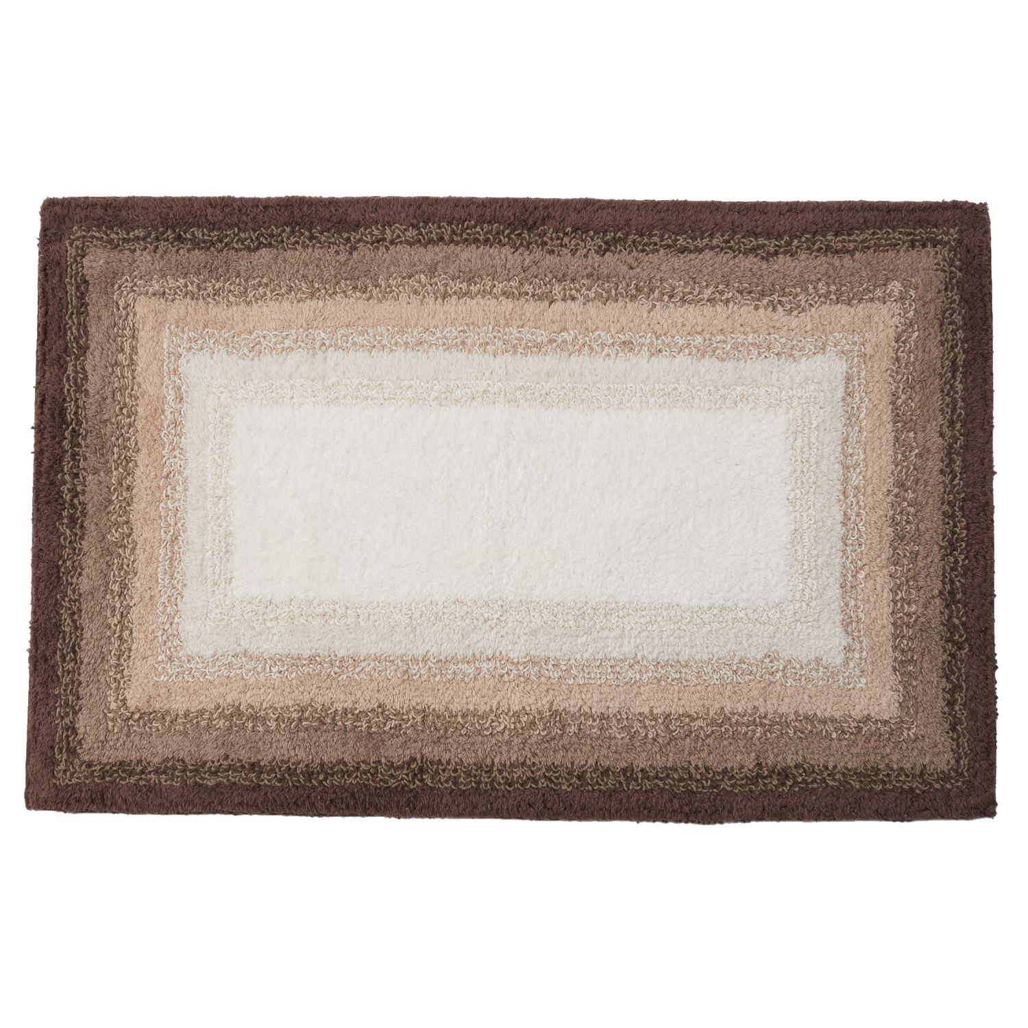 SONOMA Goods For Life™ Ombre Border Reversible Bath Rug. Brown Dark Aqua  Gray