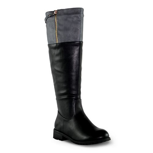 Olivia Miller Sutton Women's Knee-High Colorblock Boots