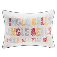 Madison Park Velvet Jingle Bells Throw Pillow