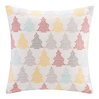Madison Park Velvet Holiday Tree Throw Pillow