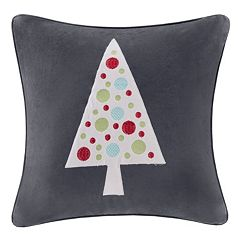 Madison Park Velvet Novelty Tree Throw Pillow