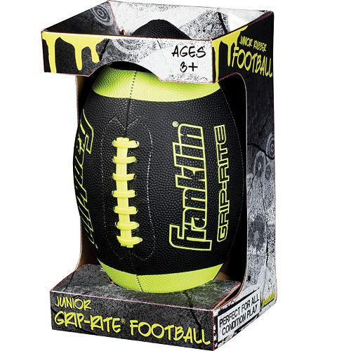 Franklin Sports Black Junior Grip-Rite Football