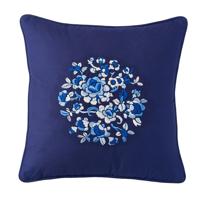 Chaps Mandarin Garden Floral Embroidered Throw Pillow