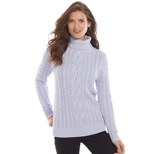 dc2e60f58c699a Women s Croft   Barrow® Cable-Knit Turtleneck Sweater