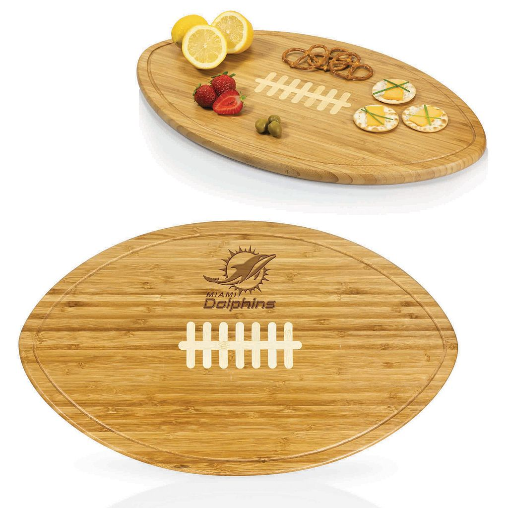 Picnic Time Miami Dolphins Quarterback Cutting Board Set