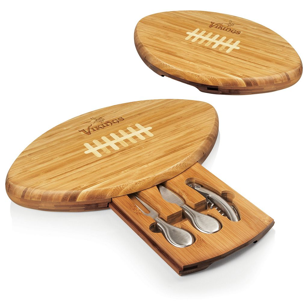 Picnic Time Minnesota Vikings Quarterback Cutting Board Set