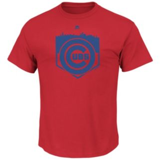 Men's Majestic Chicago Cubs Pass Through Tee